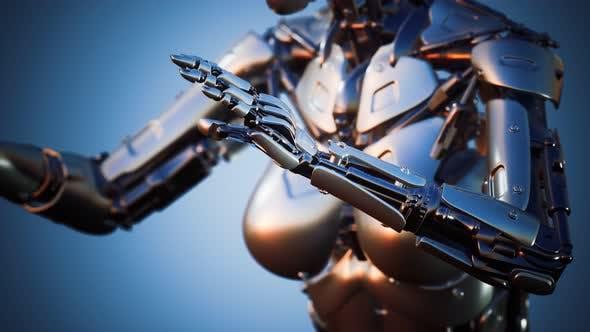 Thumbnail for Futuristic Humanoid Female Robot in Concept of Future