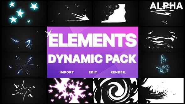 Thumbnail for Dynamic Elements | Motion Graphics Pack