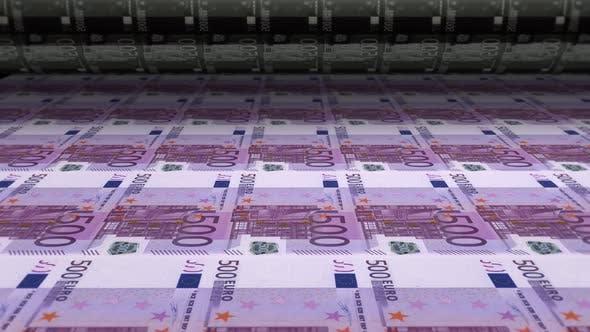 Thumbnail for Money Printing Euro Banknote Bills