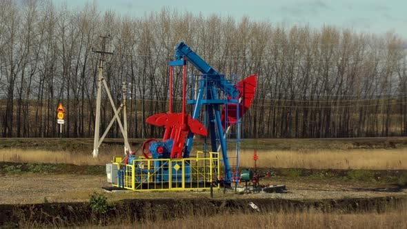 Thumbnail for An Oil Rig Extracts Raw Materials From Underground in the Steppe.