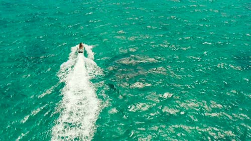 Tourists on a Jet Skis on a Tropical Resort