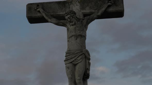 Thumbnail for Stone Statue Of Christ On A Cross