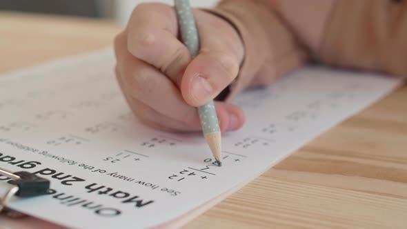 Thumbnail for Pupil Solving Few Math Problems