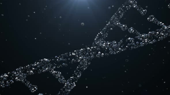 Thumbnail for Abstract DNA Double Helix with Depth of Field Rotating