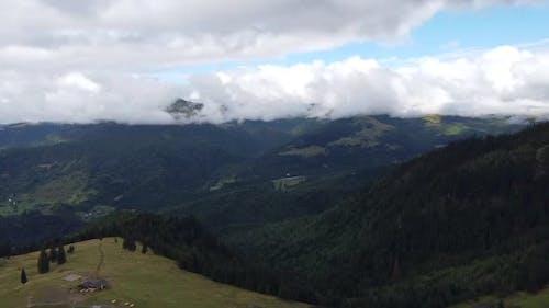 Rodnei Mountains National Park Aerial View, Romania