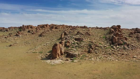 Thumbnail for Rock Formations in Gobi Desert Mongolia