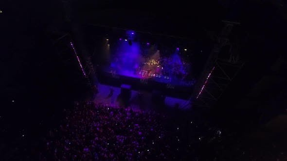 Thumbnail for Party Arena And Crowd Night Aerial View 11