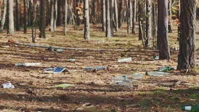 Medium Shot of Forests' Pollution with Garbage