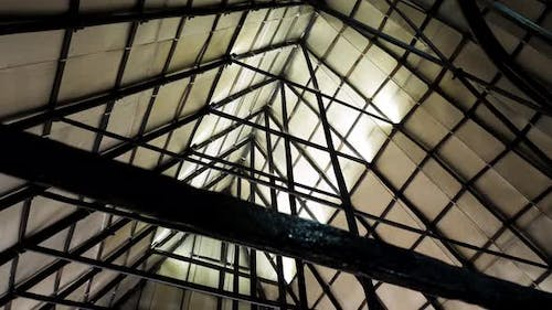 Metal sections of the roof