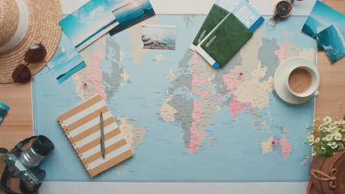 Launching Paper Airplane on World Map