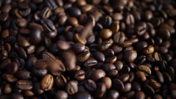 Cover Image for Falling Down Brown Roasted Coffee Beans