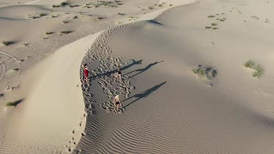 Women are Dancing in the Middle of the Desert Rub Al Khali Desert