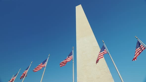 Thumbnail for Washington Monument in the Background of a Clear Blue Sky