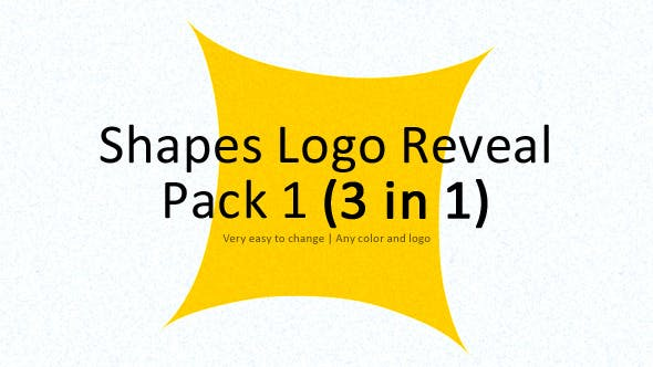 Thumbnail for Shapes Logo Reveal Pack 1