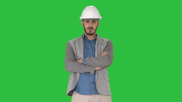 Cover Image for Confident construction engineer architect young man in