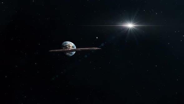 Asteroid Oumuamua Travelling Through The Solar System