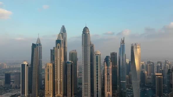 Thumbnail for Aerial hyperlapse of skyscrapers in Dubai, U.A.E