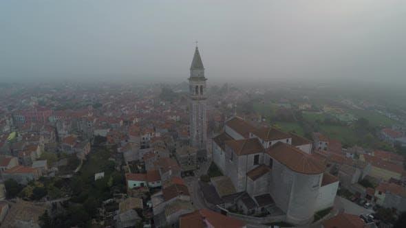 St. Blaise parish church aerial view