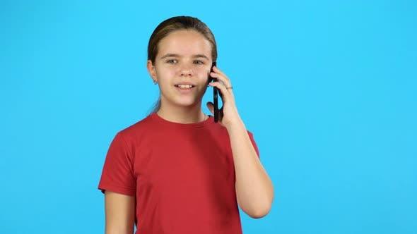 Thumbnail for Little Girl on Cell Phone Talking