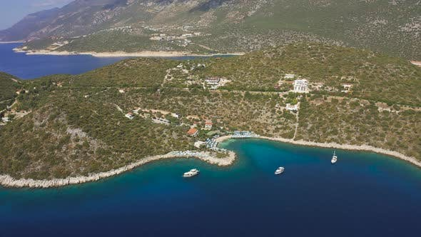 Thumbnail for Kas Tourist Town on Gorgeous Setting a Beautiful Cove Its Stunning Beaches Charming Nature and
