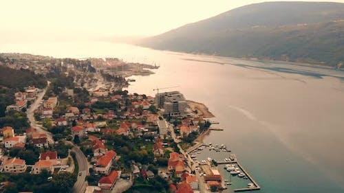 Aerial View on Coastal Town