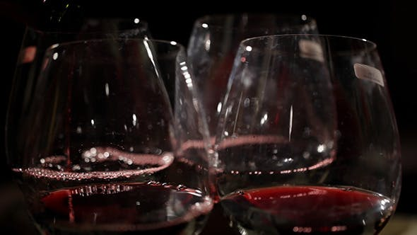 Cover Image for Red Wine Is Poured In The Glasses 2