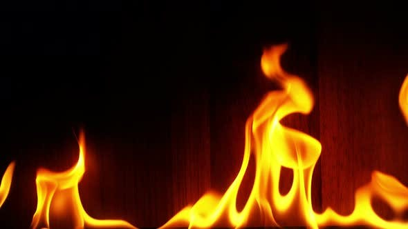 Thumbnail for Fire Burning And Wooden Background