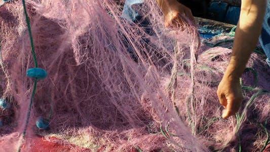 Thumbnail for Fisherman Repairs Fishnet