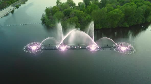 Thumbnail for Water Music Fountain In Night