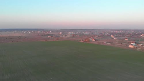 Agricultural Area Drone View