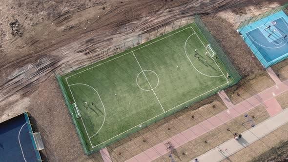 Football field. Soccer field