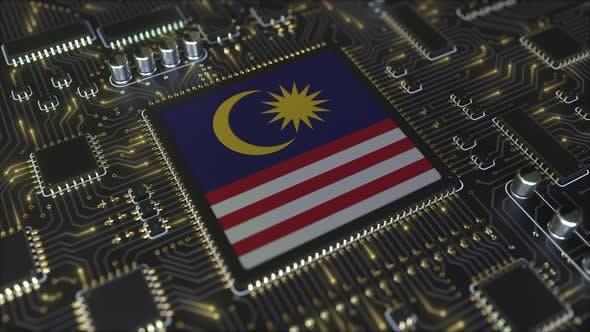 Thumbnail for Einzelheiten der Flagge Malaysias auf dem Chipsatz