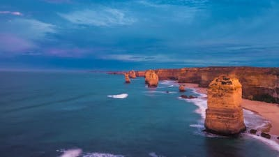 Morning by Twelve Apostles timelapse