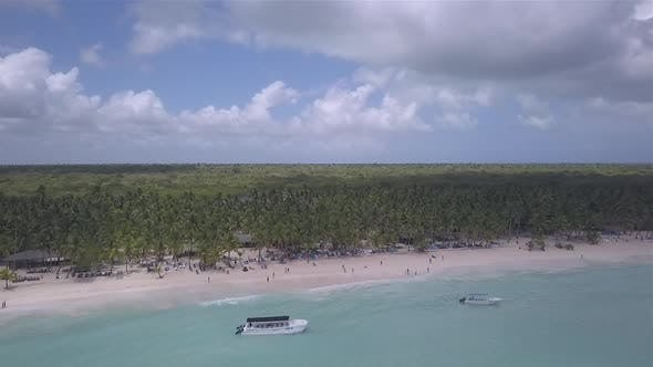 Thumbnail for Caribbean Beach Drone Blue Water Palms