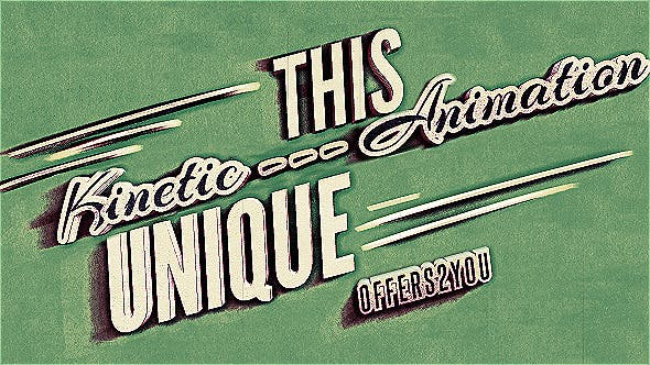 Thumbnail for Kinetic Typography, Vintage Retro Style