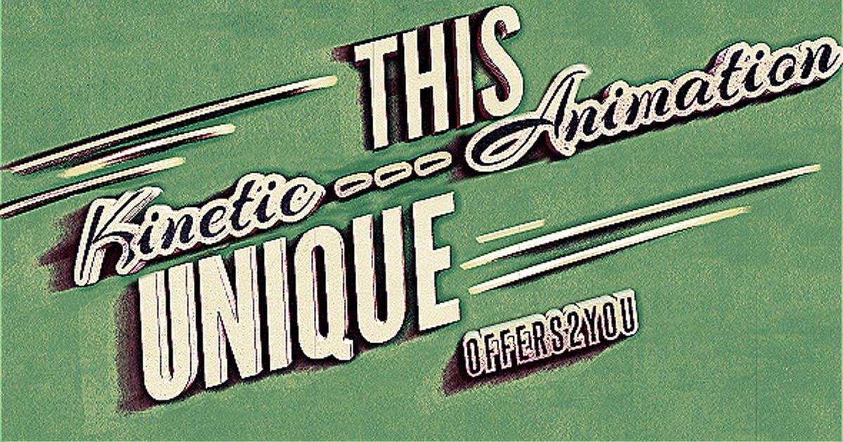 Download Kinetic Typography, Vintage Retro Style by xFxDesigns