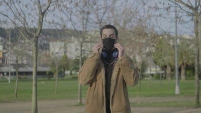 Masked Man Due to Coronavirus