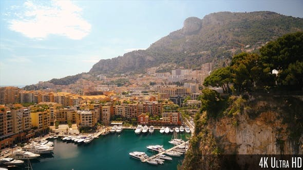 4K Monaco Port de Fontvieille in Monaco Overview