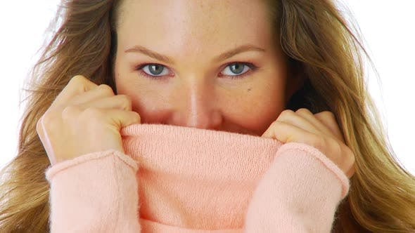 Thumbnail for Woman with a pink sweater
