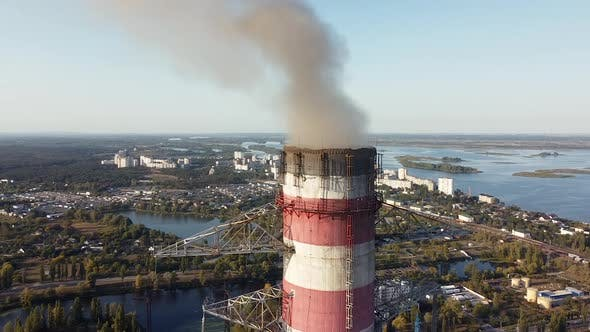 Thumbnail for Environmental pollution by industrial enterprises by emission of harmful smoke from the chimney