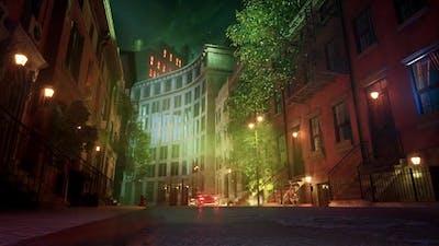 Winter Street Background Animation 4