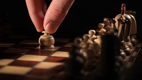 Chess Game Starts with Move of White Pawn
