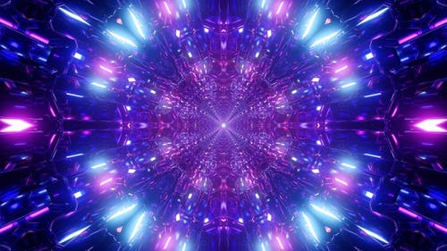 Purple Crystal Light Tunnel