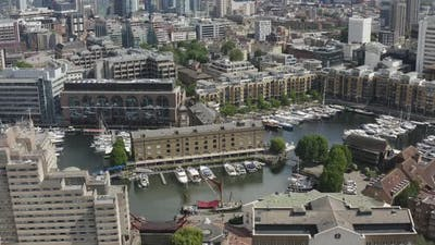London Neighborhood of Rich People. Expensive and Luxury Homes. Expensive Yachts