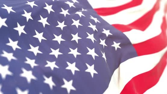 Thumbnail for Realistic United State Flag Close-up 4K Loop