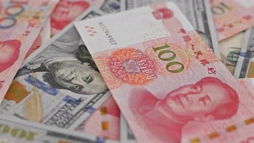 RMB and USD dollar