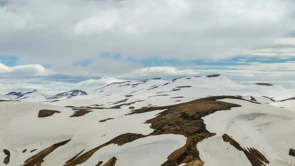 Thumbnail for Clouds over Snowy Mountains in Iceland Nature in Landmannalaugar