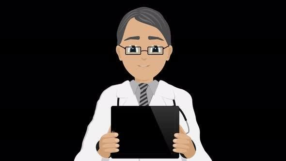 Cartoon Doctor Talking