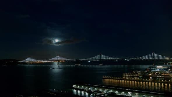 Thumbnail for Bridge At Night Aerial