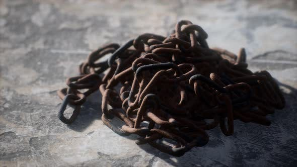 Thumbnail for Vintage Rusty Hand-made Iron Chain